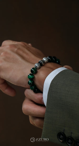 The upraising men's bracelet brand. Azuro Republic the fine handcrafted beaded bracelet