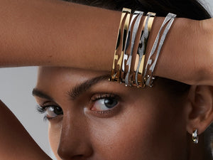 Fashion Tips: How to Choose and Wear Modern Women's Bracelets. Trendy Bangles, Personalized Jewelry