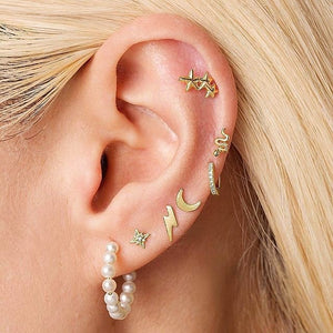 Trendy Stud earrings: what is up in the jewelry trend? Fashionable studs for women and men