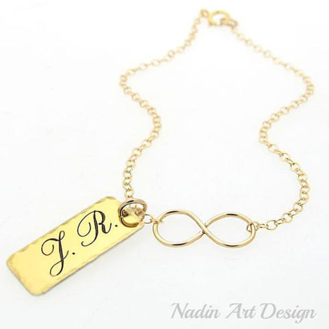 personalized infinity charm bracelets, necklaces