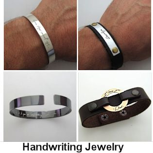 Handwriting Jewelry - bracelets
