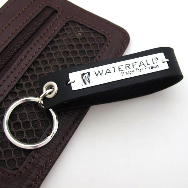 Logo engraved Keychain - Personalized Leather key chains