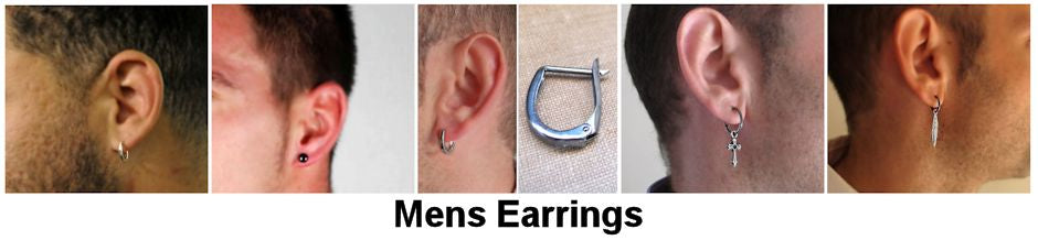 Mens Earrings - earrings for Mens - Mens Jewelry