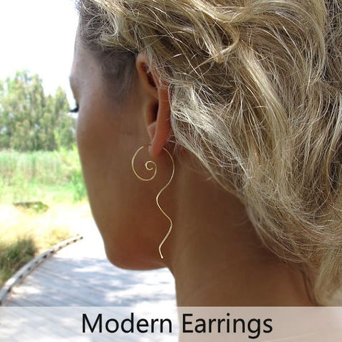 Modern Earrings for Women - Unique Earrings, Handmade earrings, Fashion earrings, lightweight earrings for her