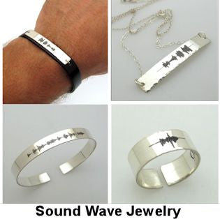 Sound Wave Jewelry - Unique gifts Idea - Best Gifts for Him and Her