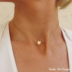 Gold Filled star choker