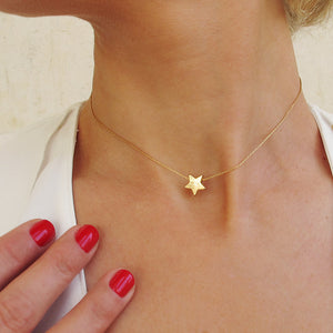 Gold Filled Star Choker Necklace
