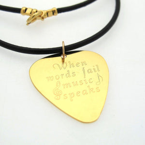 Guitar Pick Necklace - Gift For Musician