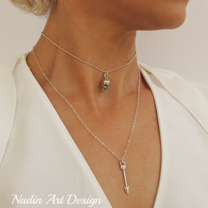 Choker Necklace - Dainty Charm Arrow