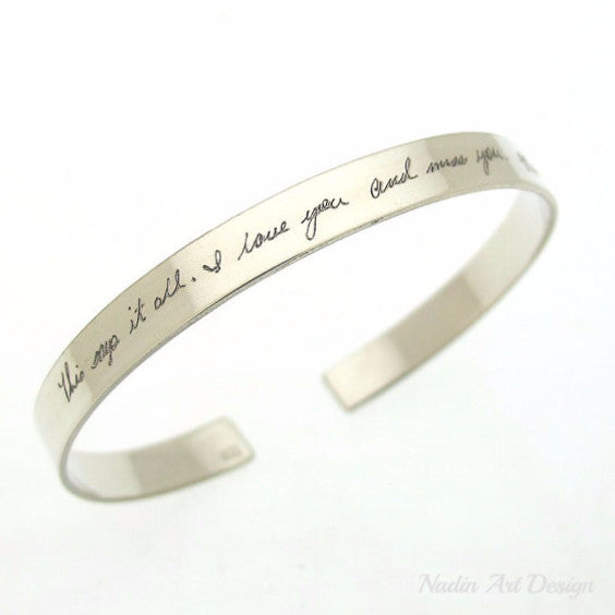 Custom Handwriting Bracelet for her