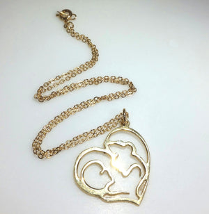 Gold Pendant Necklace - Mother Daughter Gift