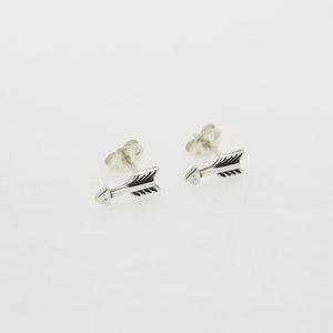 Tiny Sterling Silver Arrow Studs