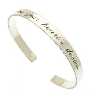 Follow Your Heart Engraved Bracelet