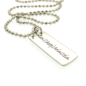 Mens Silver Necklace - Gift from wife