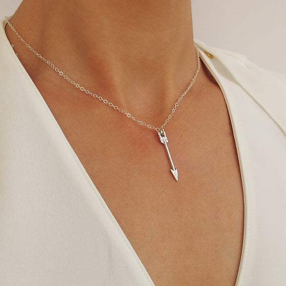 Arrow Pendant Choker Necklace