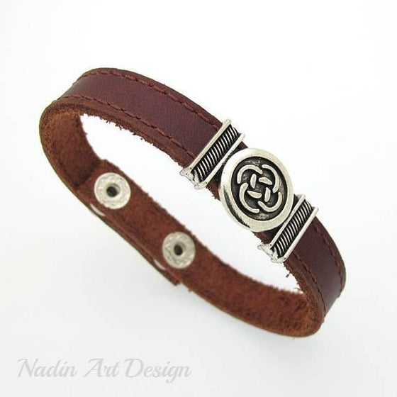 Stitched Leather Bracelet for men