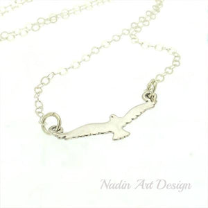 Seagull Pendant Silver Necklace