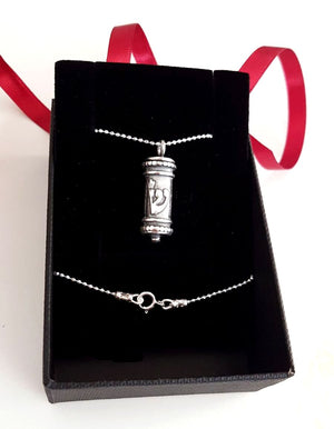Mezuzah Necklace - Judaica jewelry