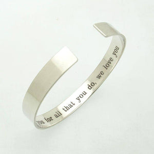 ID initials hidden message bracelet
