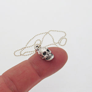 Skull Charm Choker Necklace