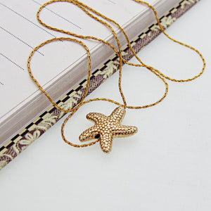 Gold Seastar Choker Necklace