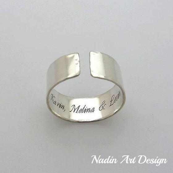 Inside Engraved Secret Ring