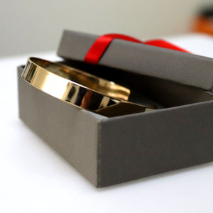 Gold Cuff bracelet - Personalized Gold Cuff for men - Gold Filled cuff
