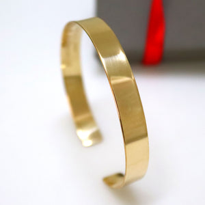 Engraved Gold Cuff - Personalized Bracelet for Her