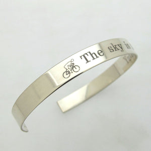 Triathlon Personalized Mens Cuff Bracelet
