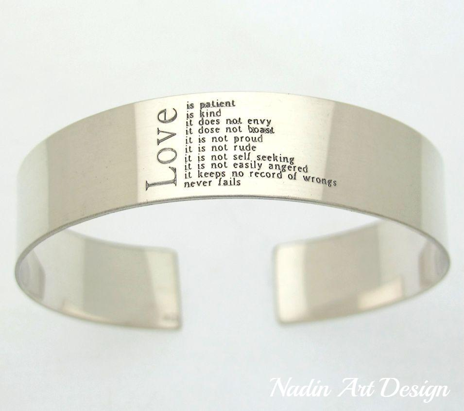 Text engraved wide cuff for men - Love Mens Bracelet - Boyfriend Gift - Husband Gift