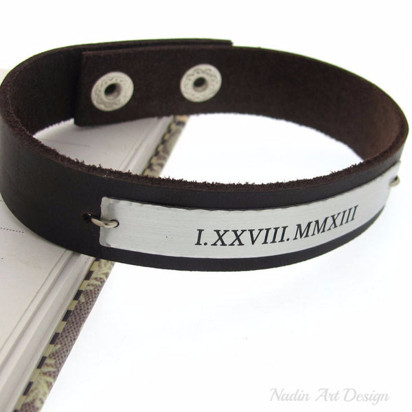 Roman Numeral Bracelet - Graduation Gift for Him