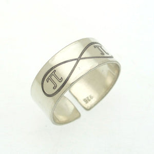 Infinity Personalized Sterling Silver Ring