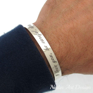 Silver cuff engraved