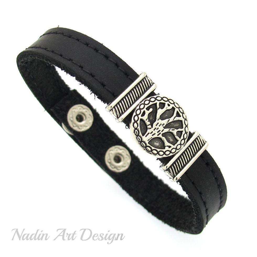 stainless clasp bracelet magnetic steel barrel jewelry mens leather cb bling black