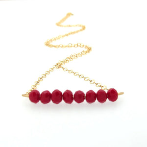 Cherry Jade Gold Necklace