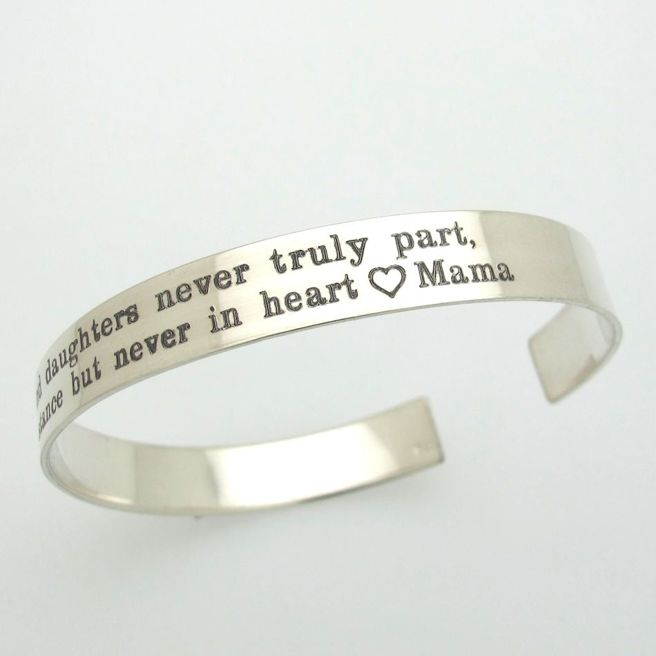 Engraved Cuff Bracelet Birthday Gift For Her