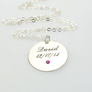 Name Birthstone Necklace