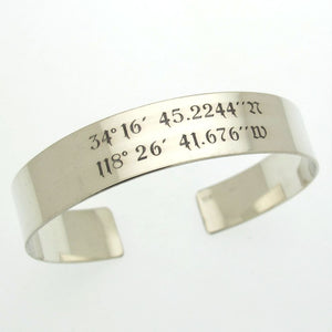 Quote bracelet - Engraved Cuff for Him