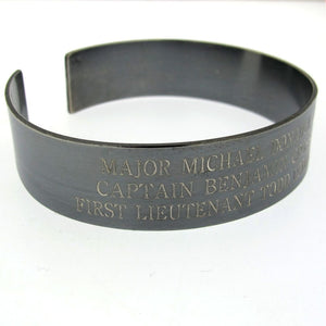 Black KIA Engraved Bracelet