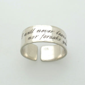 Custom text ring - Personalized Sterling Silver Ring