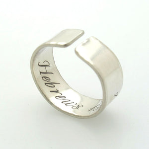 Personalized Thumb Ring in Sterling Silver