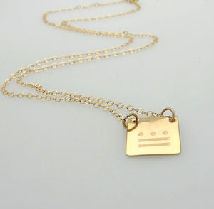 Small Charm Initials Necklace