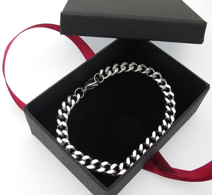 Curb-Link Bracelet for Men - Mens Chain Bracelet