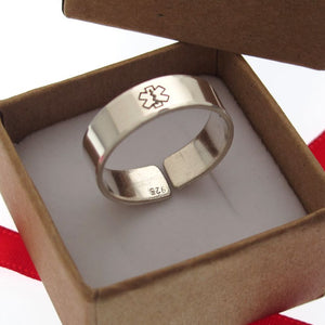Custom Diabetic Medical ID Ring