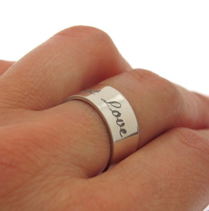 Custom Engravable Ring for Her