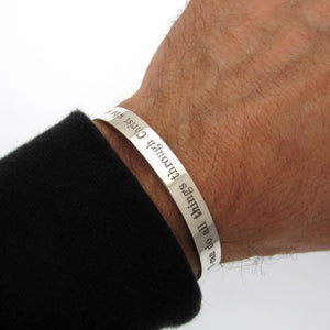 Personalized bracelet for Hubby