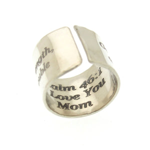 Bible Verse Custom Ring