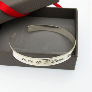 Engraved remembrance bracelet