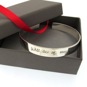 Handwriting Men's Bracelet