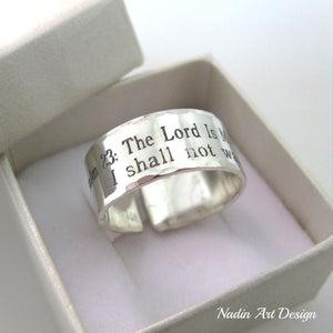 silver psalm ring